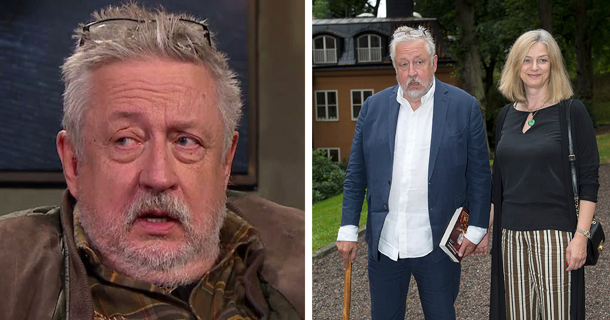 Leif GW Persson med fru Kim Persson.